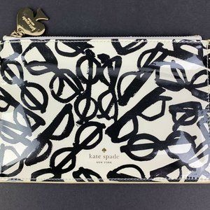 Kate Spade Clutch Case Patent Leather White Black
